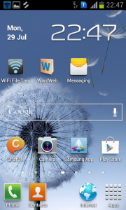 How to capture Screen shots on Samsung galaxy S