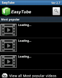 Download videos in android mobile by easytube