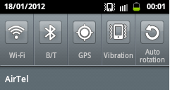Notification panel Improve battery life of Samsung galaxy y