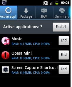 Close application Improve battery life of Samsung galaxy y