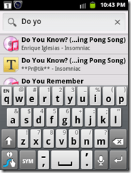 Search files, message, music in android mobile by Google Search