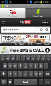 Search in tubex to download youtube