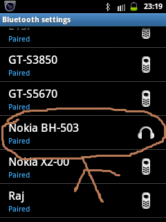 Connect nokia BH-503 with any mobile