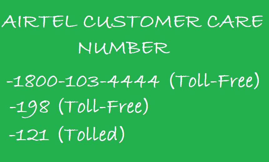 Customer Care Number of Airtel