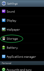 Format erase and Unmount memory SD card in Android