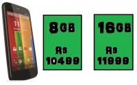 Rs 2000 Flipkart discount on Motorola Moto G.