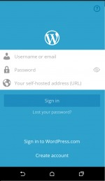 WordPress blogger Android App for self hosted blog