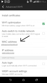 Find MAC address of Android Mobile or Tablet