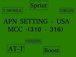 All USA service providers APN setting for Android- list