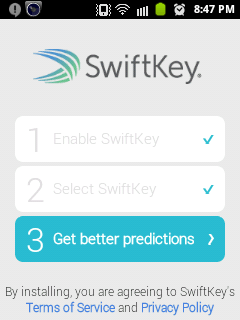 Swiftkey Keyboard for android and iPhone 10
