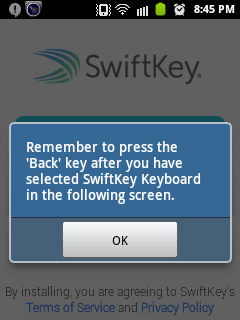 Swiftkey Keyboard for android and iPhone 5