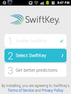Swiftkey Keyboard for android and iPhone 8