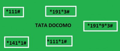 Tata Docomo All USSD codes to check balance, offer, plan, alert