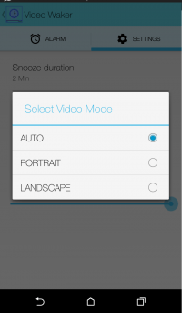 video waker alarm