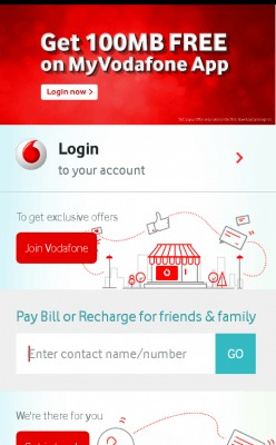 Download My Vodafone Application