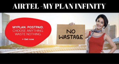 Airtel –my Infinity plan - Unlimited local, Std and Data packs